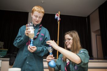 Scouts doing science